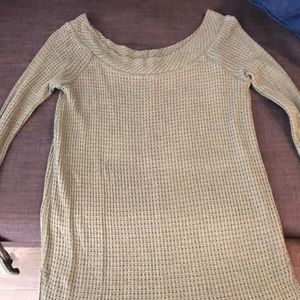 Free People Olive Green Sweater